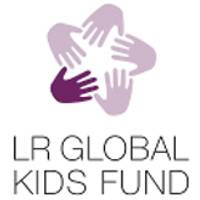 Grafik LR Global Kids Fund Aufkleber schwarz