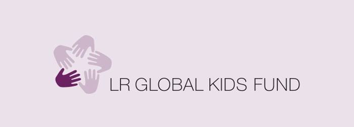Grafik mit Logo des LR Global Kids Fund e. V. (LRGKF)